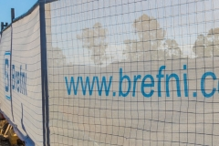 Open weave fence mesh for construction projects