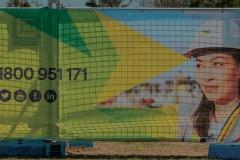 Branded fence mesh in Sydney