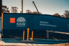 Banner mesh in Penrith at Nepean hospital