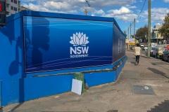 Custom printed vinyl hoarding banners in Sydney