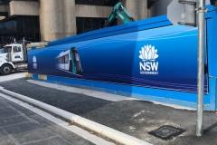 PVC Banner on construction hoarding