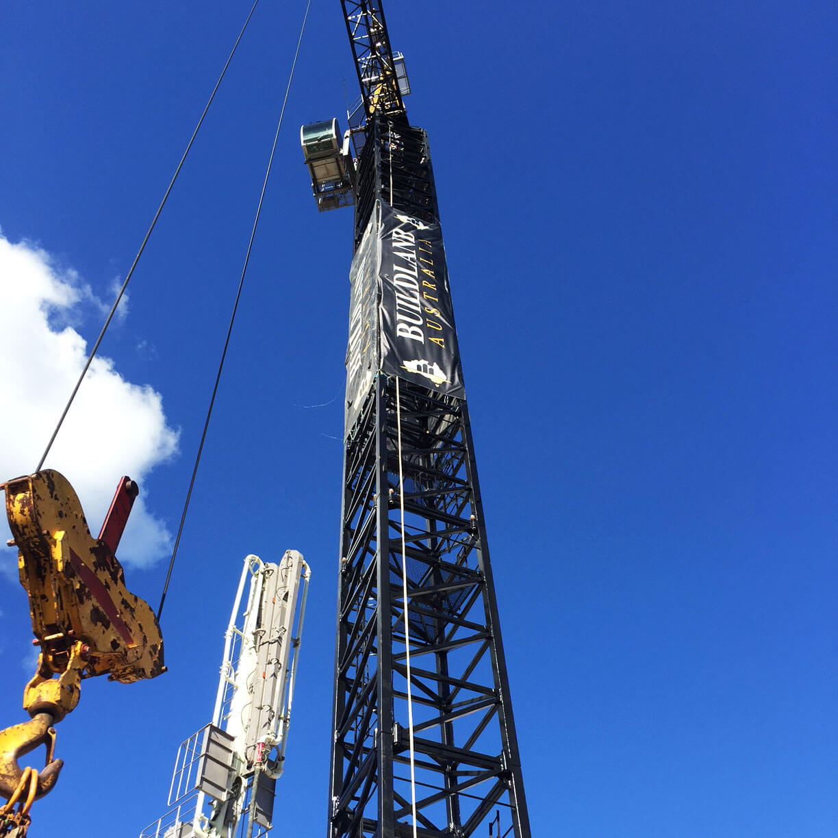 Tower Crane Banners | Crane Signage Solutions | Fence Banner
