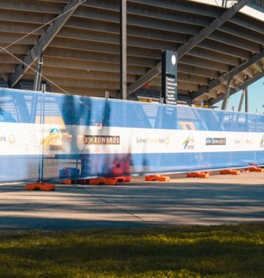 Custom printed mesh for Sydney Tennis Centre