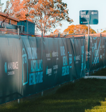 Printed Scrim for Retail Giants Mainbrace