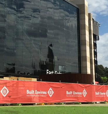 Fence Banner Mesh for Adelaide Oval Hotel