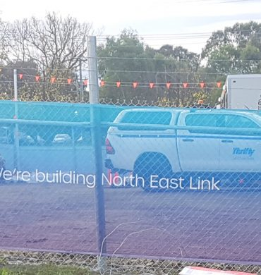 Printed Construction Signage for Victoria's North East Link