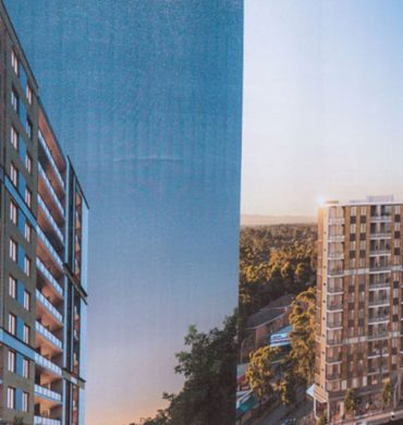 Photo banners for Sydney construction project