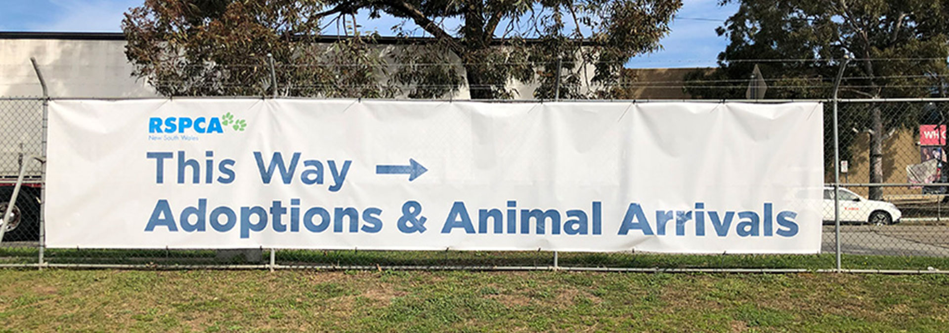 Large Fence Banners for RSPCA in Sydney